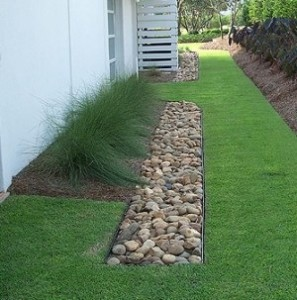 French drains provide an easy channel for water to flow through