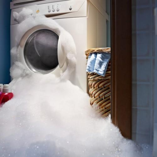 Washing machine water damage