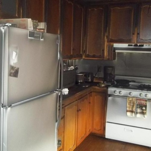 Fire & Smoke Damage in a Kitchen